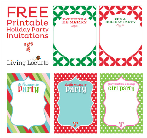 7 Images of Free Holiday Printable Invitations