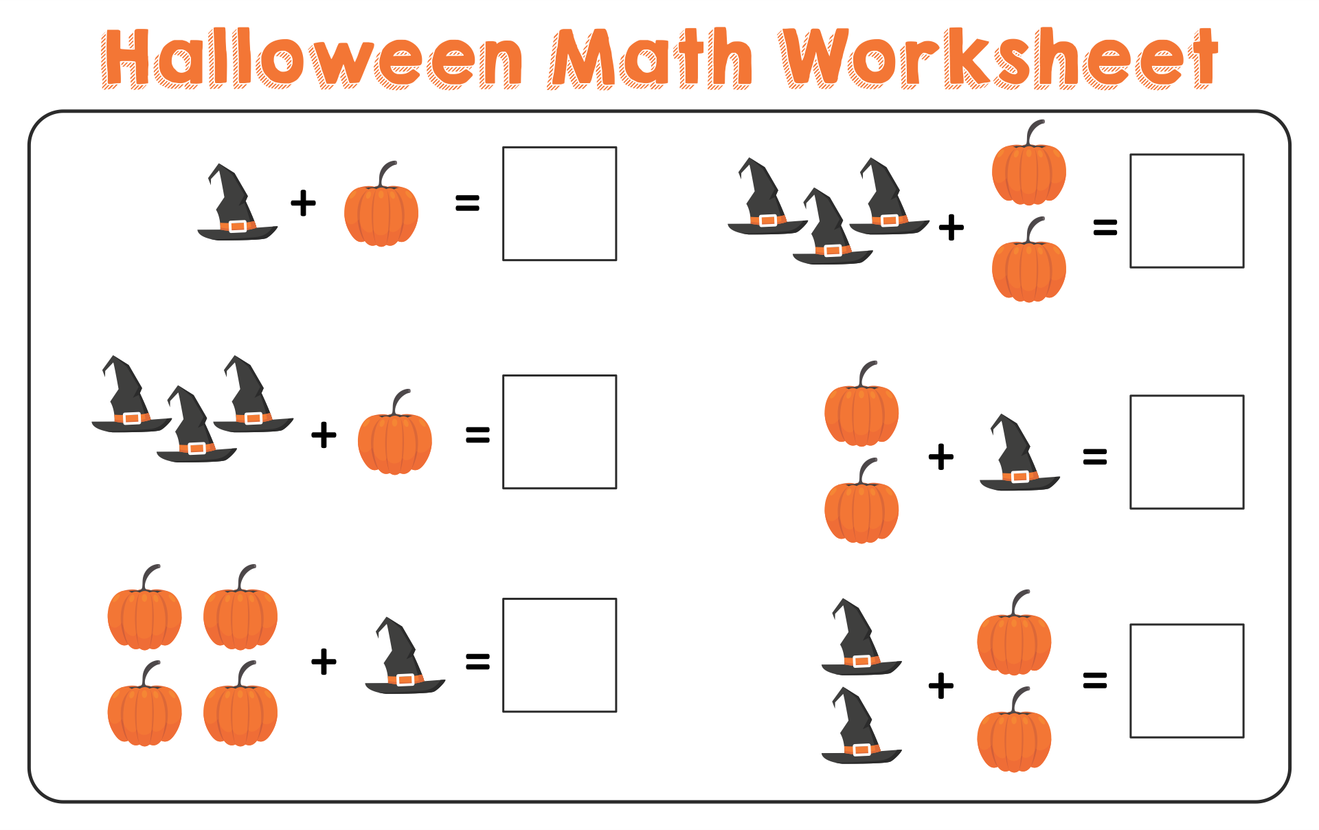 5 Images of Halloween Math Printables