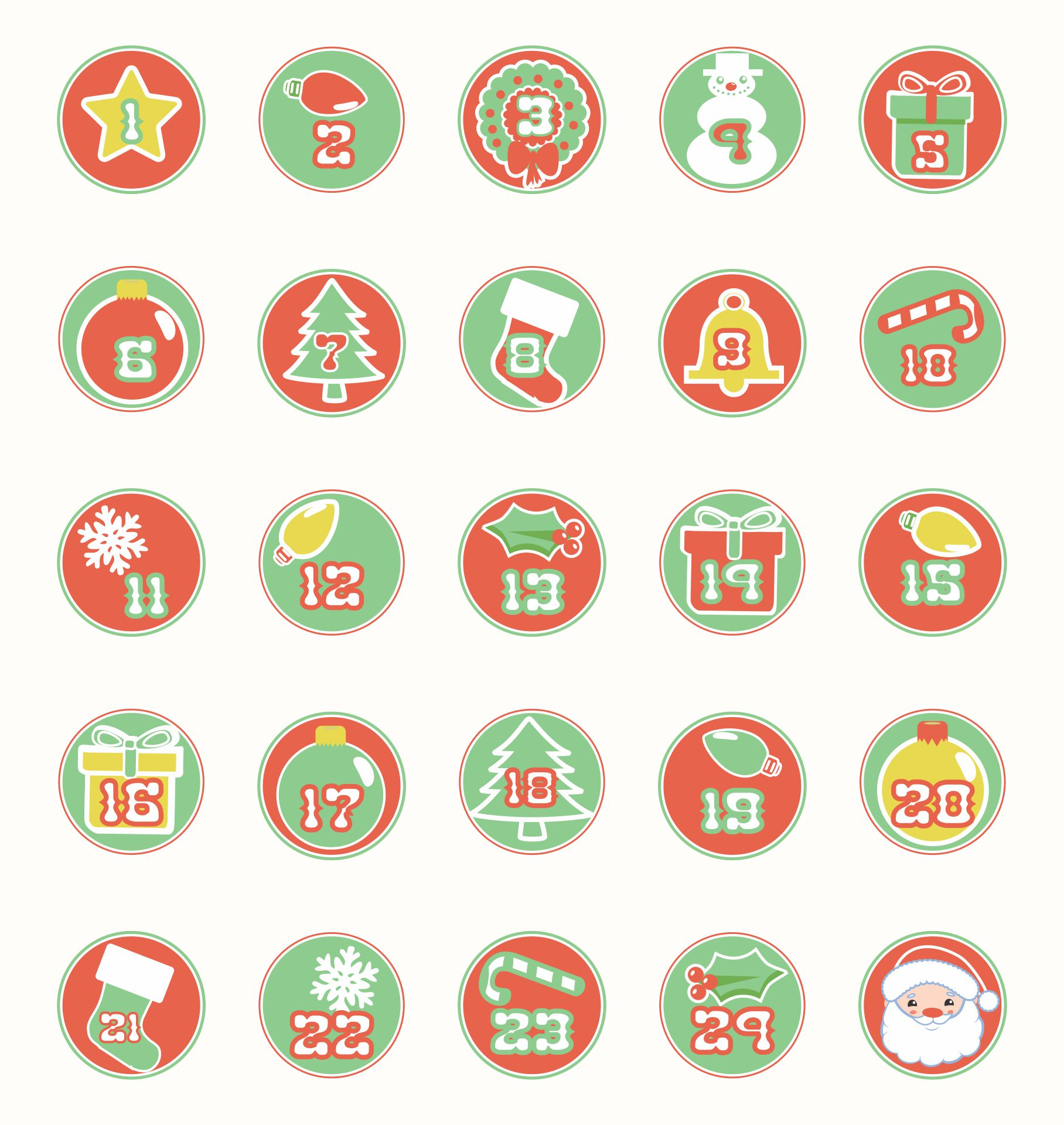 7 Images of Printable December Calendar Numbers