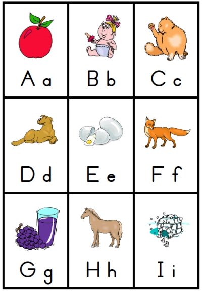 9 Images of Simple Printable Alphabet Flash Cards