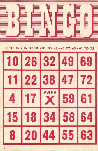 8 Images of Free Printable Vintage Bingo Cards