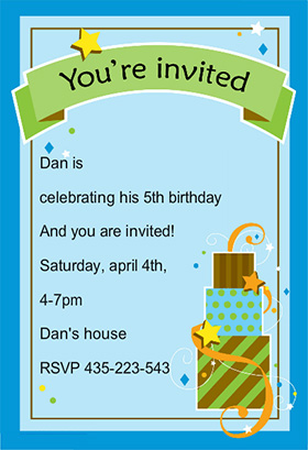 Free Printable Boy Birthday Invitation Templates