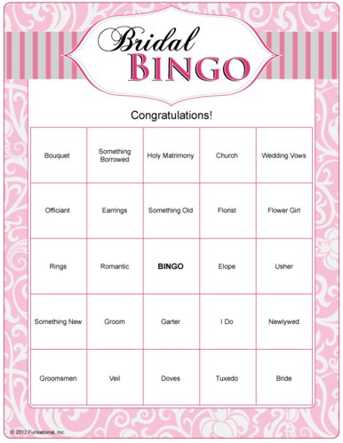 8 Images of Fun Bridal Shower Games Printable