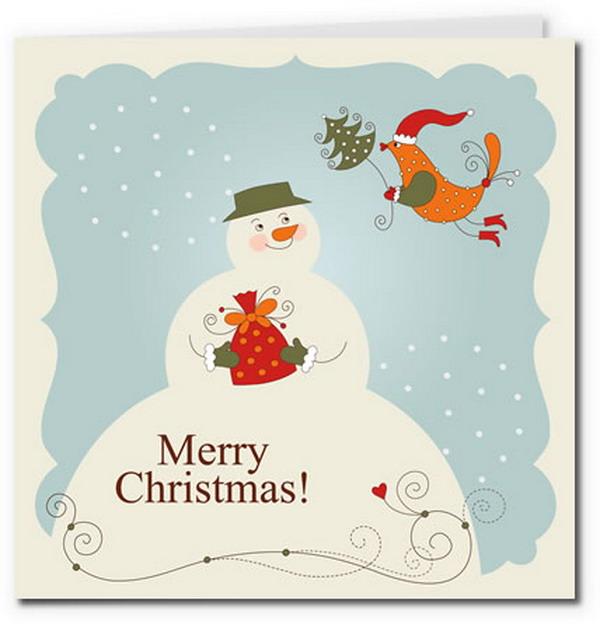 4 Images of Free Printable Vintage Christmas Card