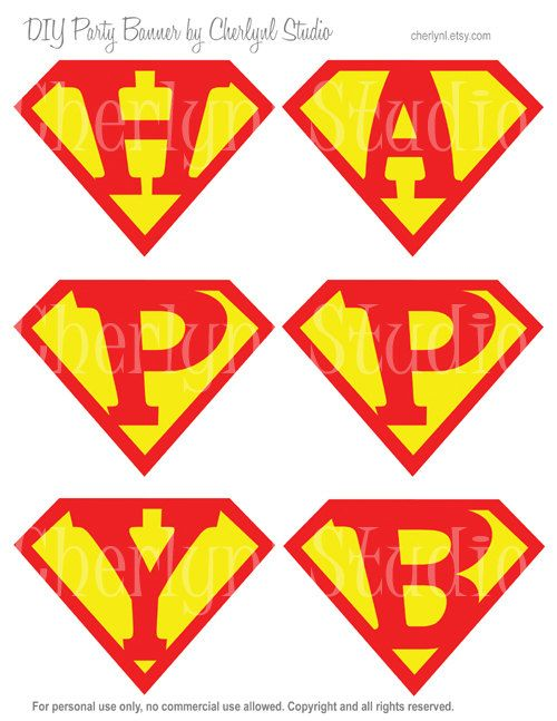 9 best images of free superman printable birthday banners Custom Superman Logo create superman logo with different letters