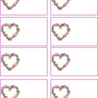 4 Images of Heart Shaped Name Tags Printable