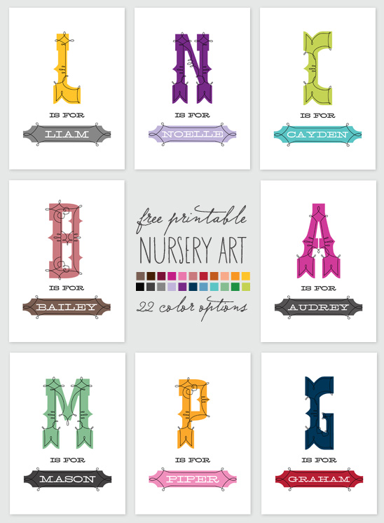 7 Images of Free Printable Nursery Artwork