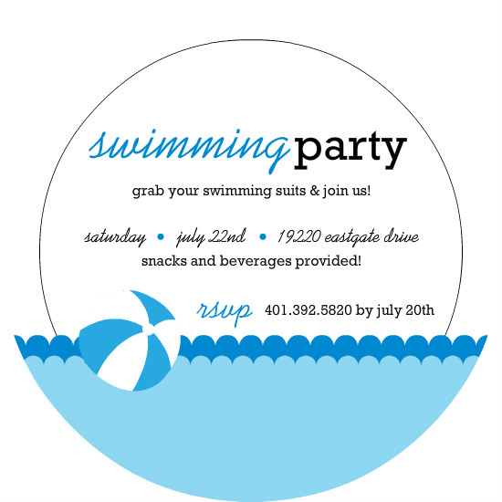 Free Pool Party Invitation Template – Free Pool Party Invitation Templates