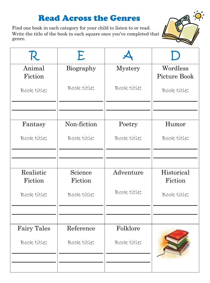 Printable Reading Genres