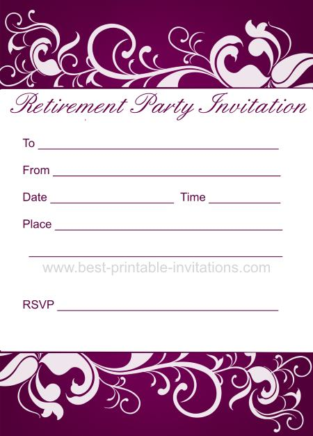 Free Invitation Template For Retirement Party Wedding Invitation – Retirement Party Flyer Template