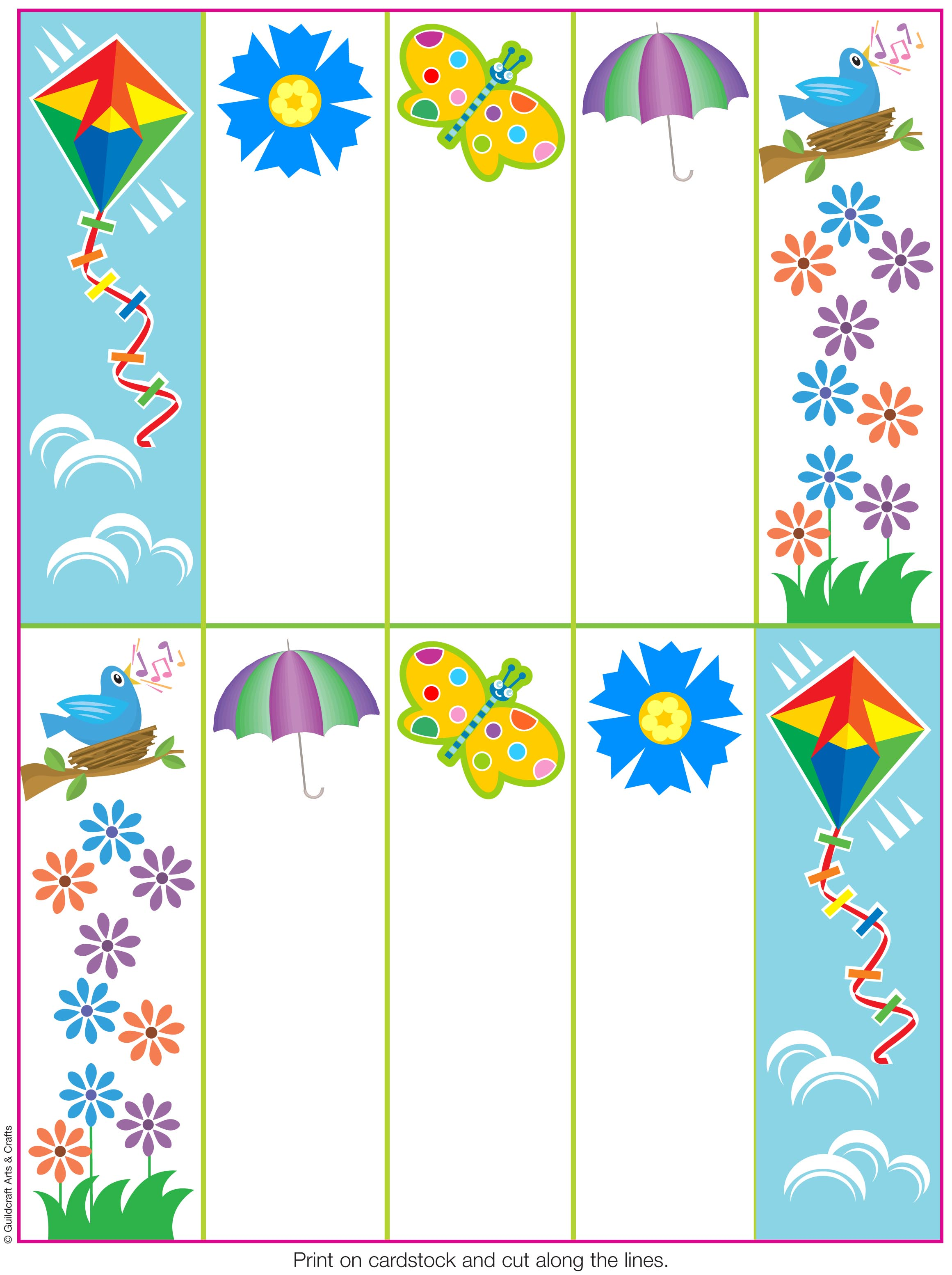 6 Images of Printable Spring Bookmarks