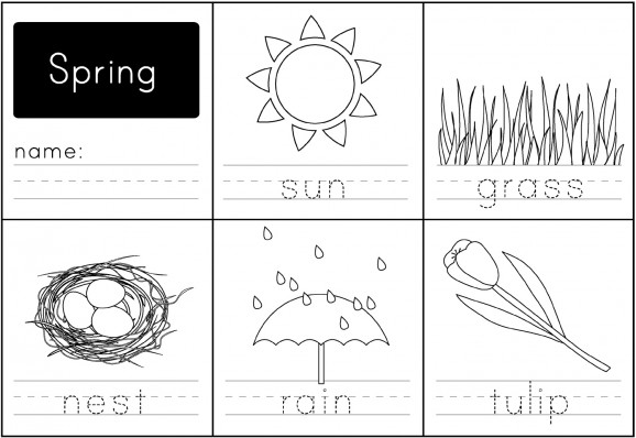 Number Names Worksheets free printable activities for kindergarten : 7 Best Images of Spring Printable Activity Worksheet - Free ...