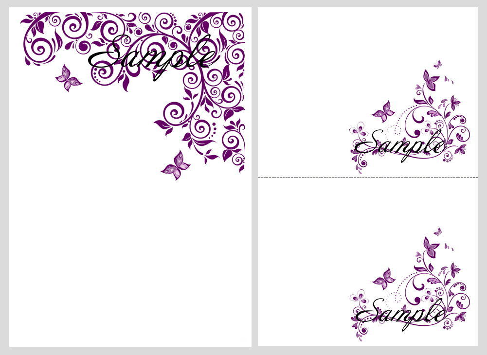 8 best images of purple butterfly templates printable free for E wedding invitation video free