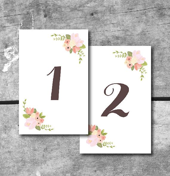 8 best images of table number cards printable printable table number templates free printable for Wedding table numbers template