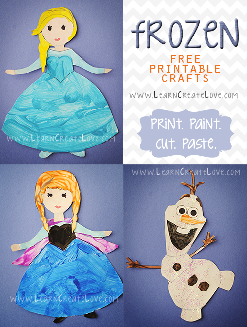 Frozen Free Printable Crafts