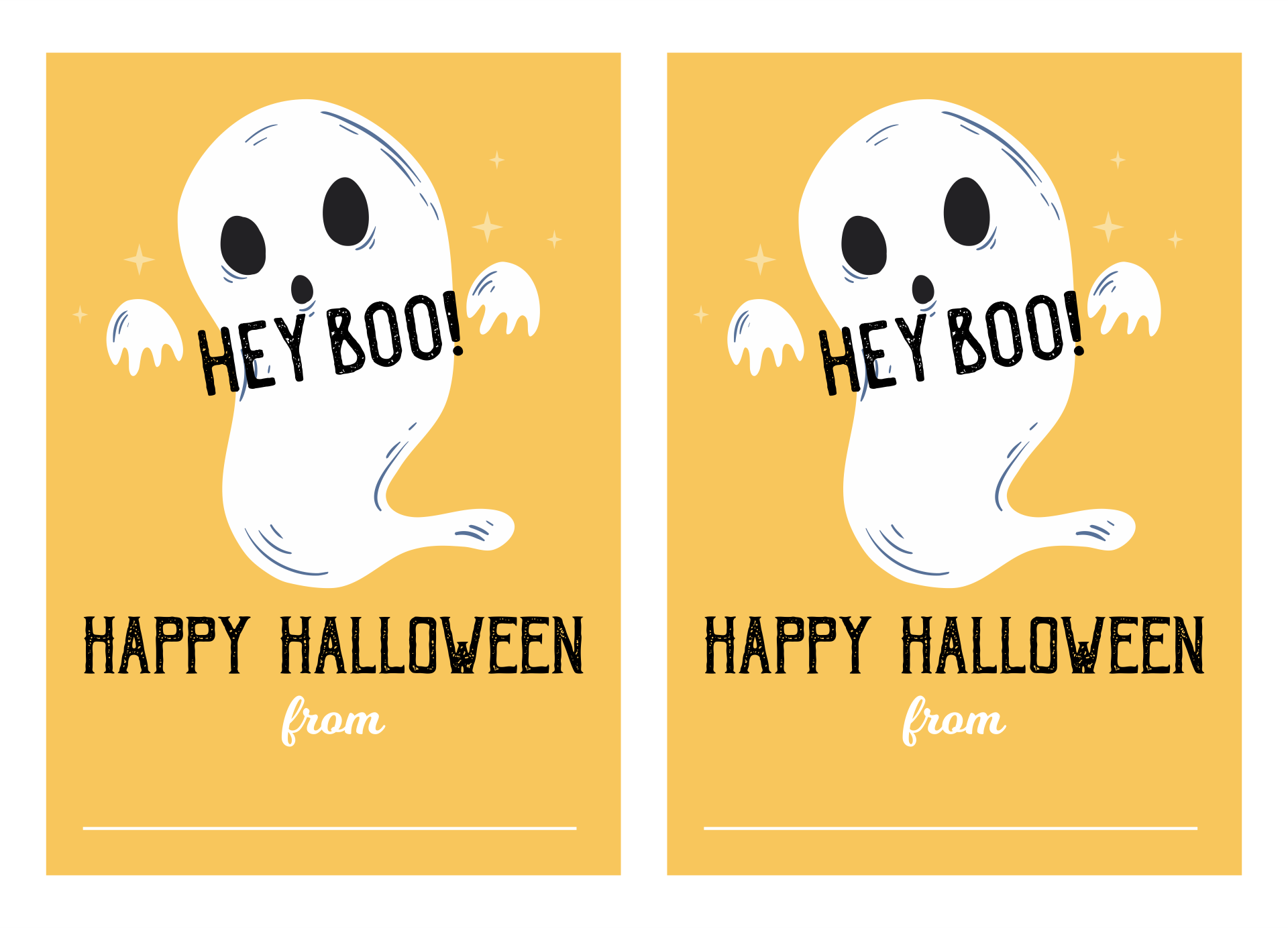5 Images of Printable Letters For Halloween Boo