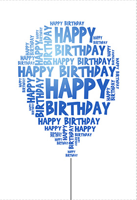 Happy Birthday Cards Free Printable Balloon Pictures