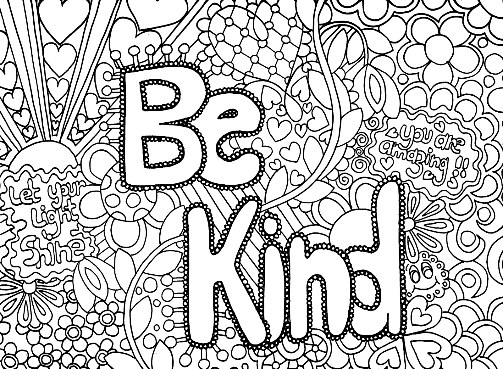 Hard Coloring Pages for Teenagers