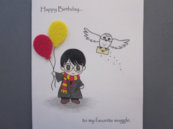 9 Images of Harry Potter Printable Birthday Card