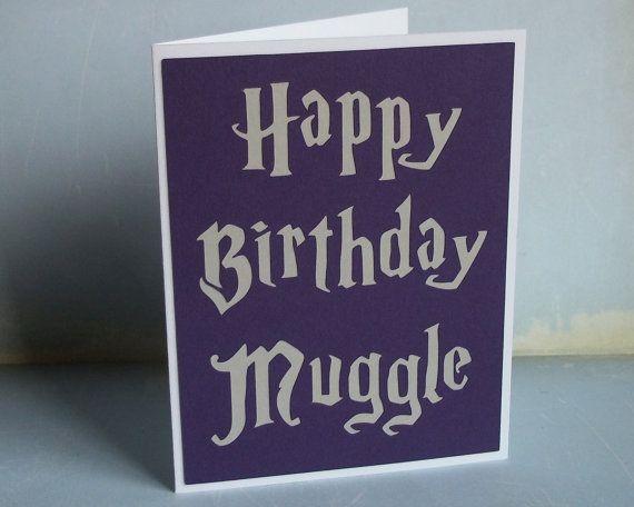 Harry Potter Happy Birthday Card