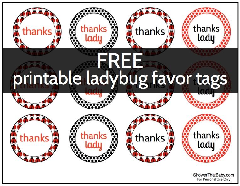 9 Images of Ladybug Favor Tags Free Printable