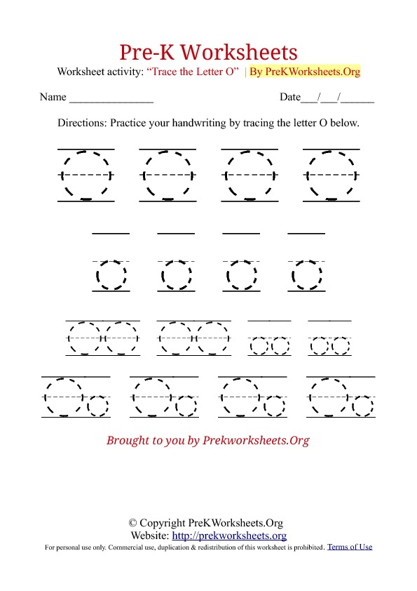 letter o worksheets 8 best images of printable tracing letter o worksheets 1376
