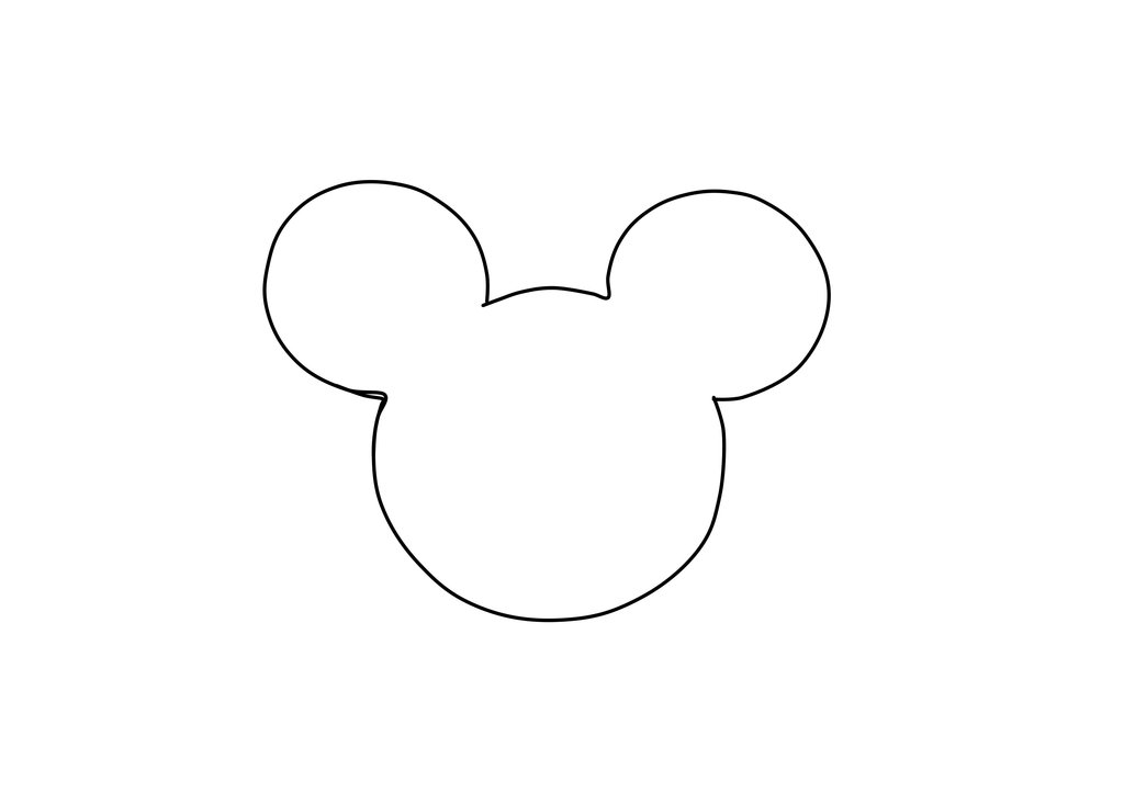 8 best images of donut printable stencil donuts free for Mickey mouse head shape template