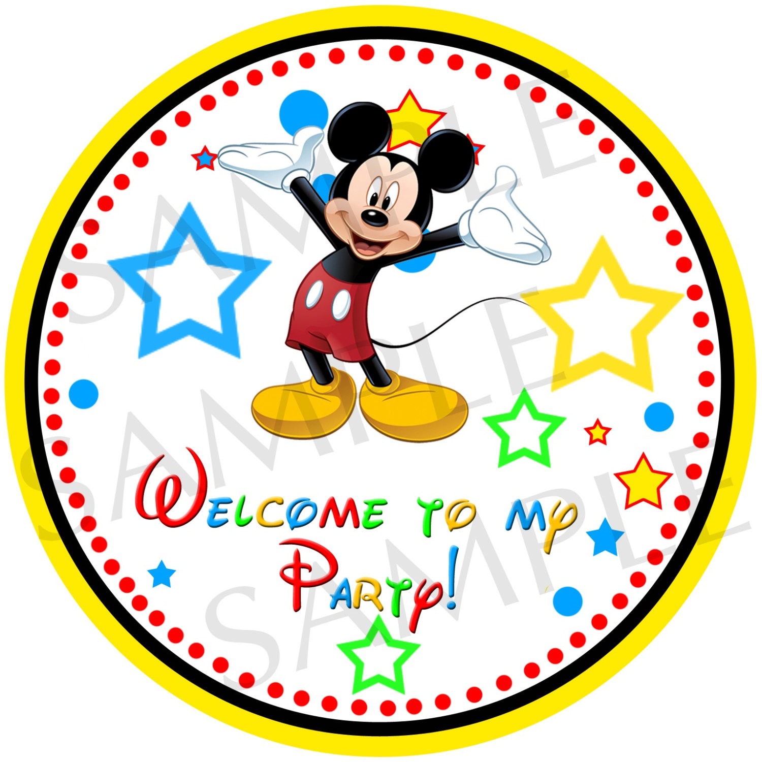 Mickey Mouse Printable Labels