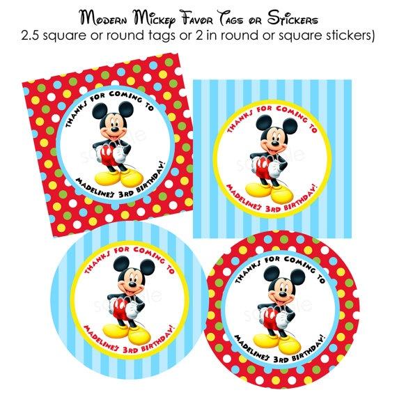 Mickey Mouse Printable Tags