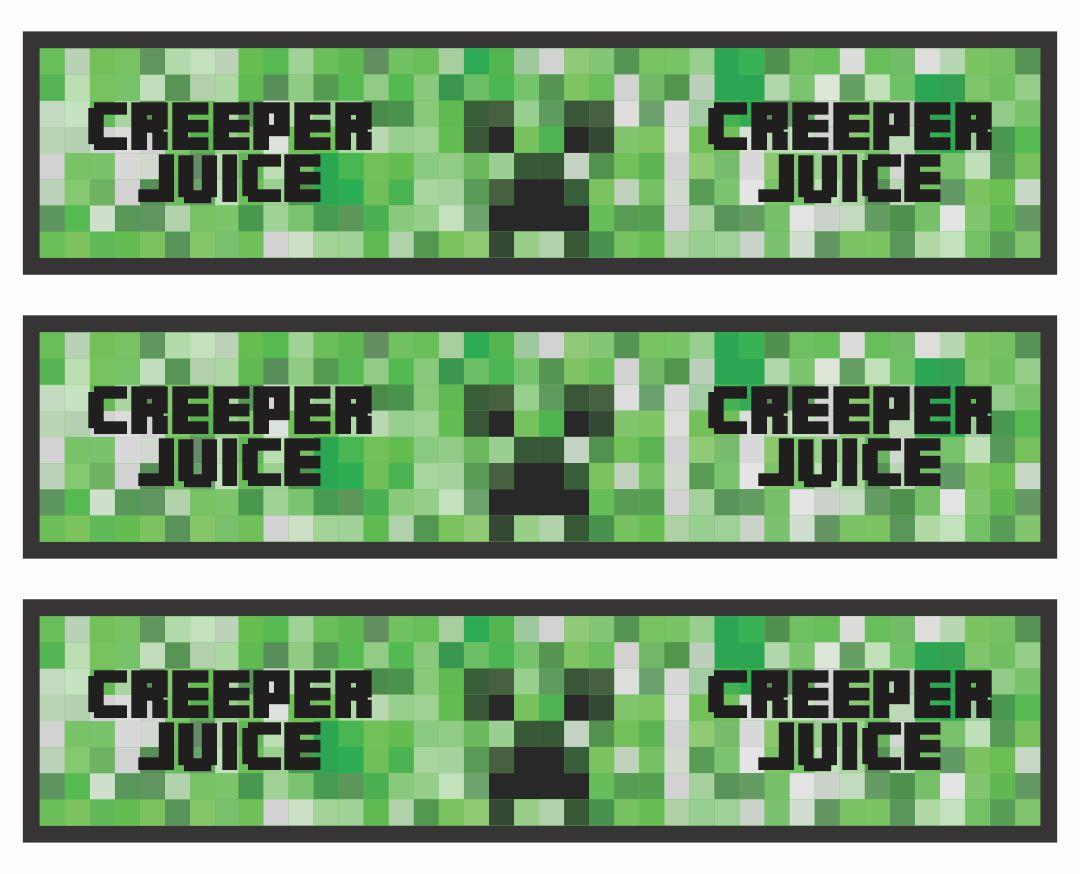 7 Best Creeper Juice Printable Label Printablee Com