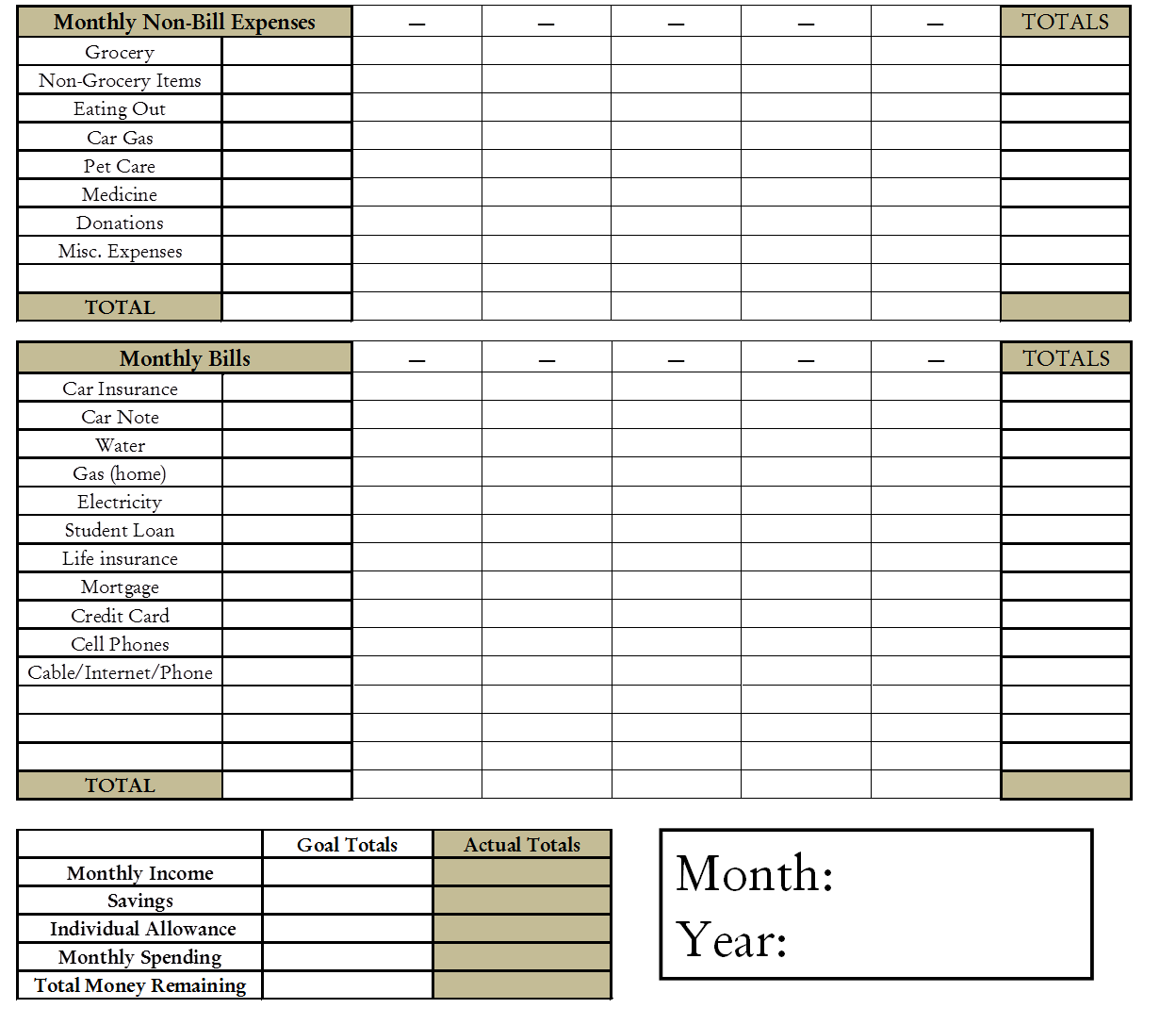 ... Budget Sheet and Free Printable Weekly Budget Planner / printablee.com