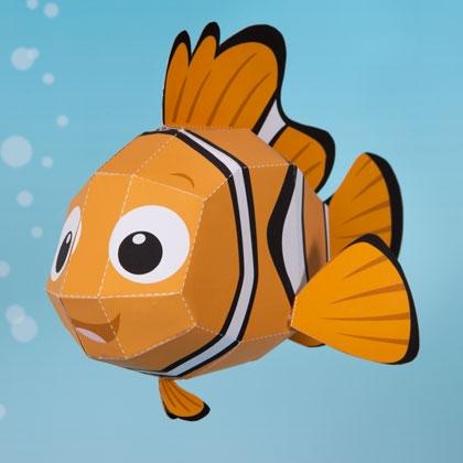 Nemo Printable 3D Paper Crafts Templates