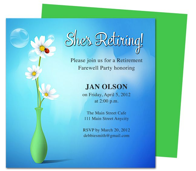 Retirement Party Invitation Templates Free Word – Free Retirement Party Invitations