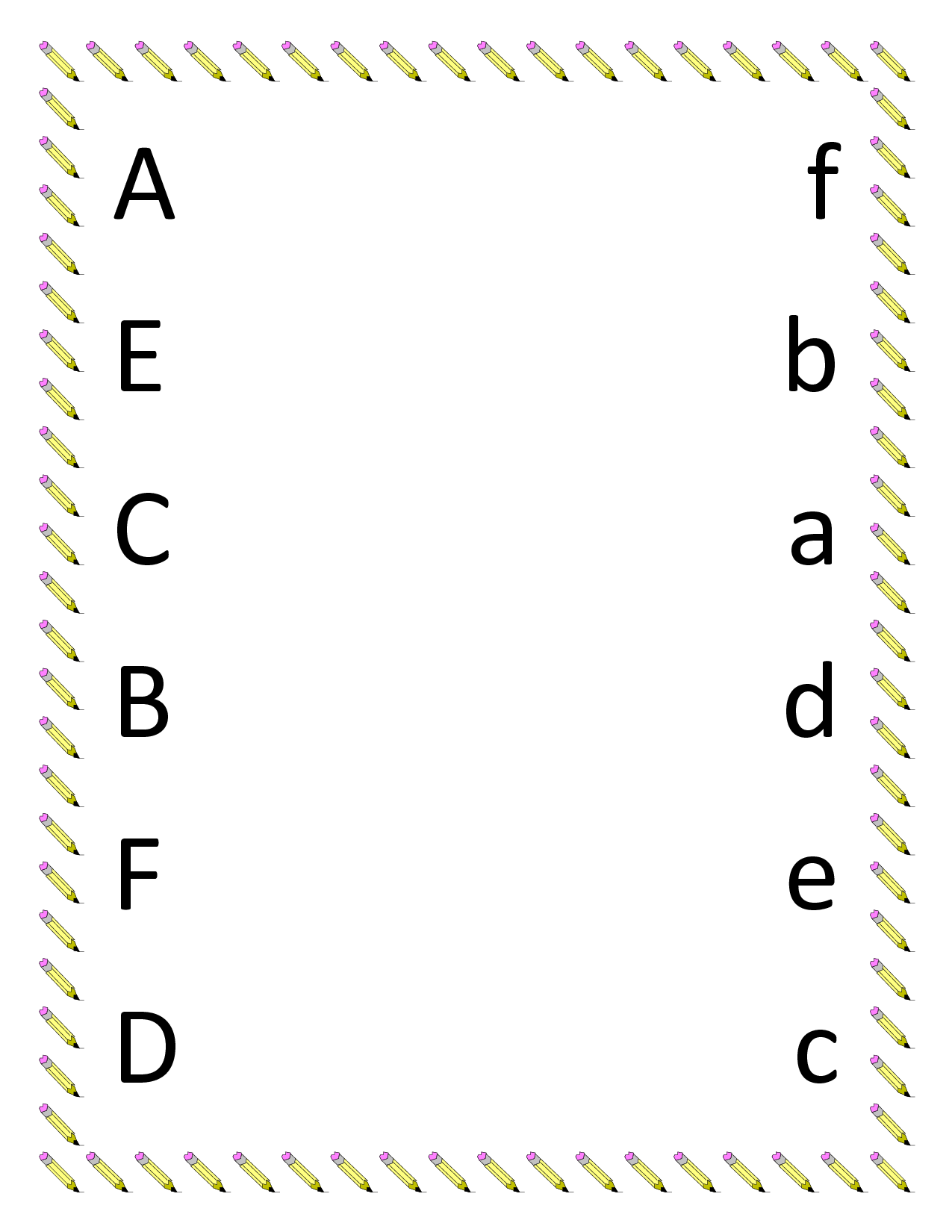7 Images of Letter Matching Printables