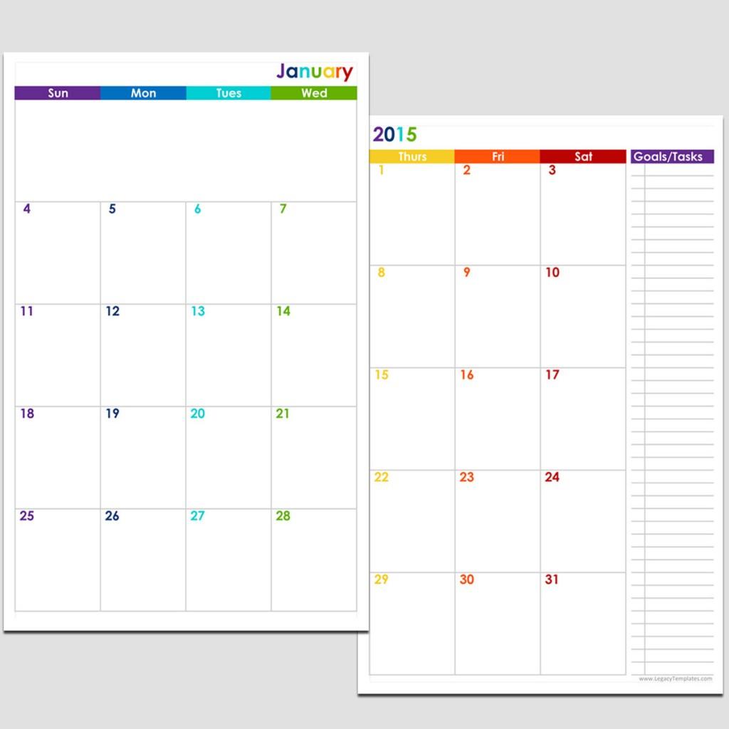 ... 11 Printable Calendar 2014 & Printable 2 Page Monthly Calendar 2015