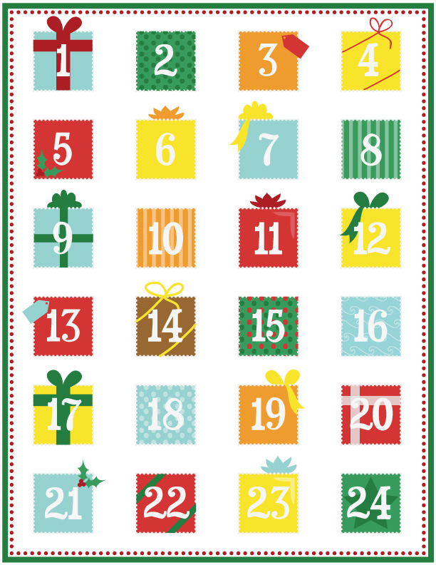 8 Images of Tin Advent Calendar Number Printable