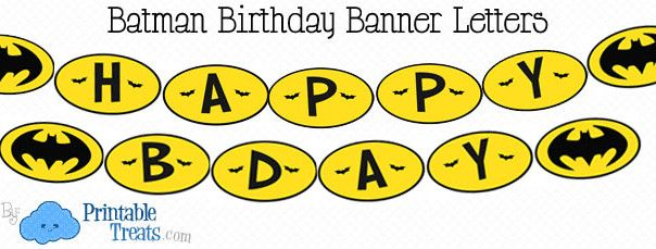 6 Images of Batman Happy Birthday Banner Printable