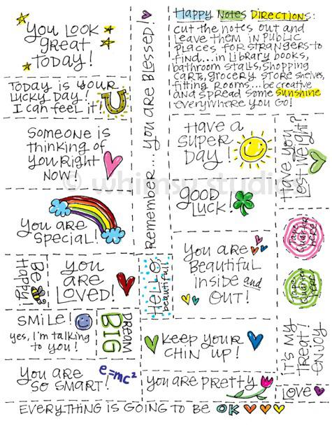 Printable Happy Notes