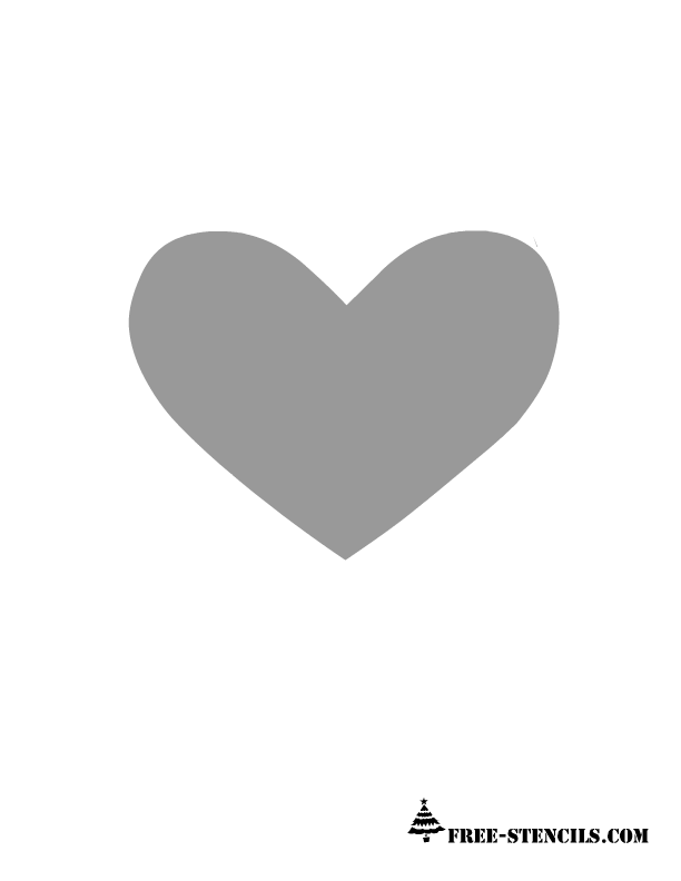 8 Images of Printable Heart Stencil Wall