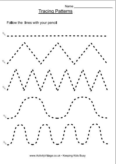 7 Best Images of Free Printable Tracing Lines Worksheets Preschool ...