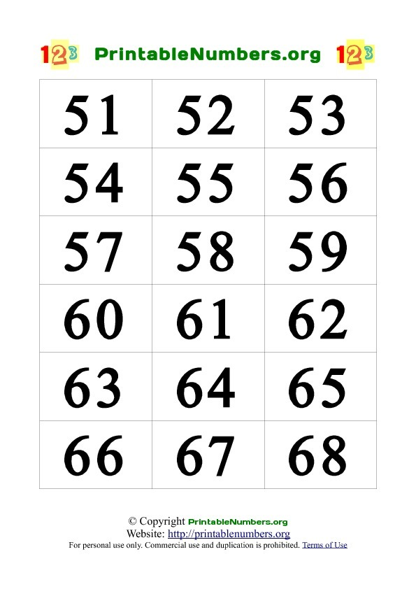 7 Images of Printable Number Cards 3