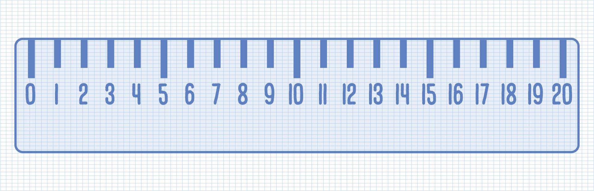 Printable Number Line 0-20