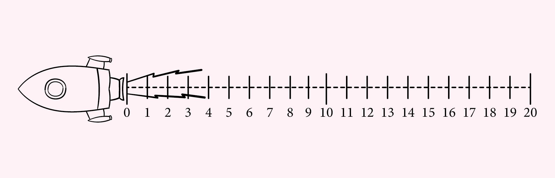 9 Images of Free Printable Number Line 1-20