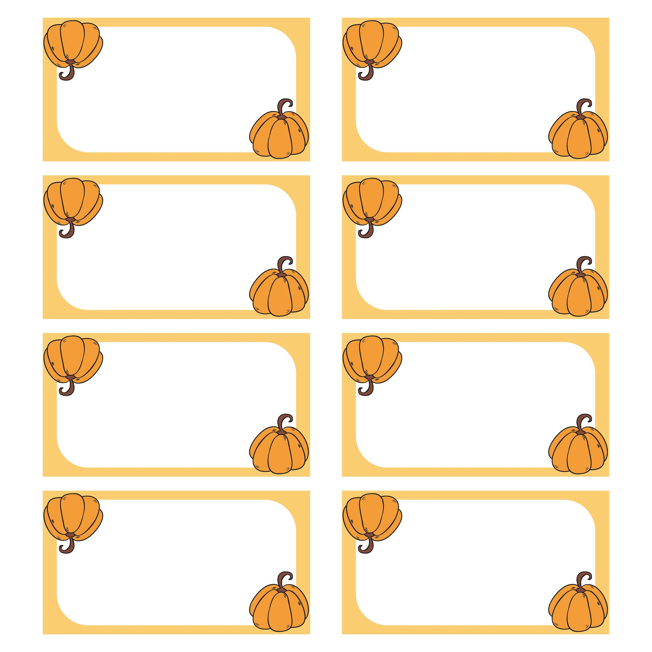 Printable Thanksgiving Name Tags