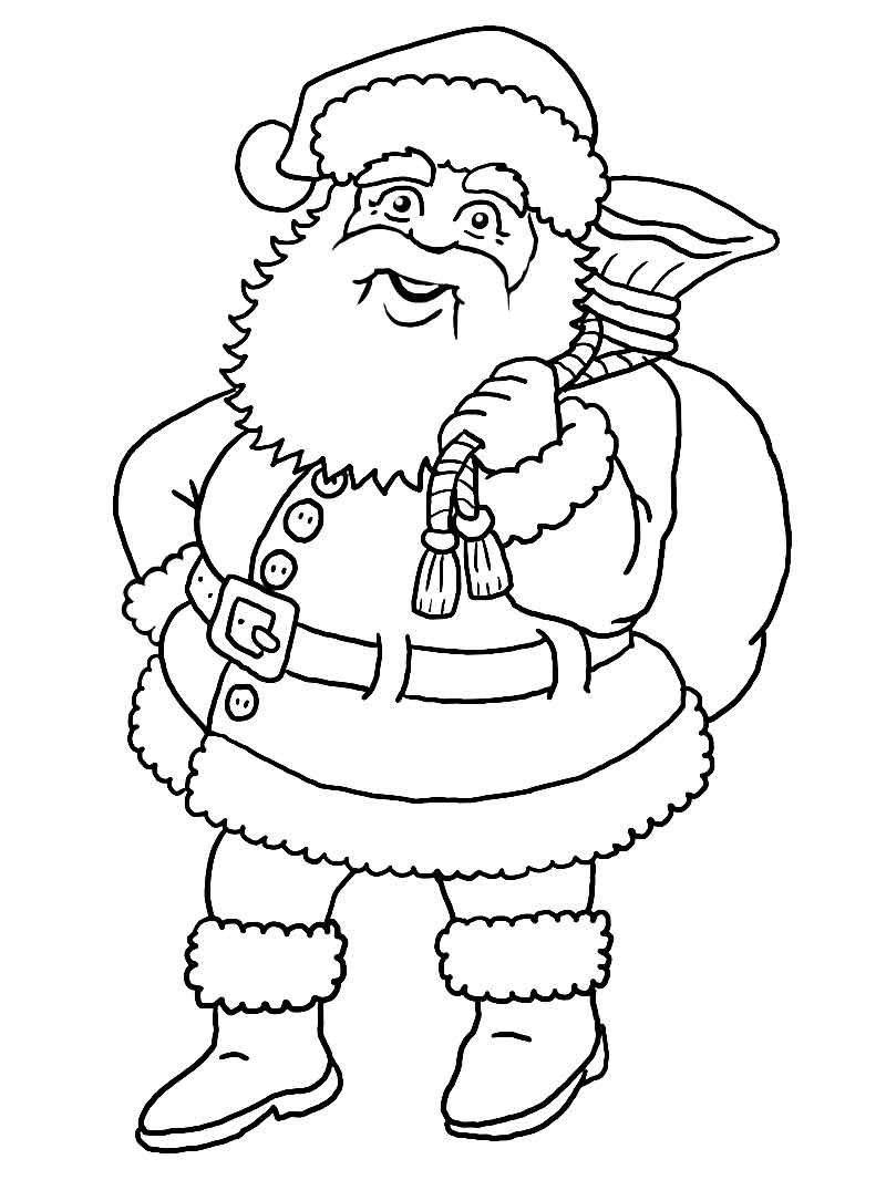 Colouring in santa - Kids N Fun 85 Coloring Pages Of Christmas