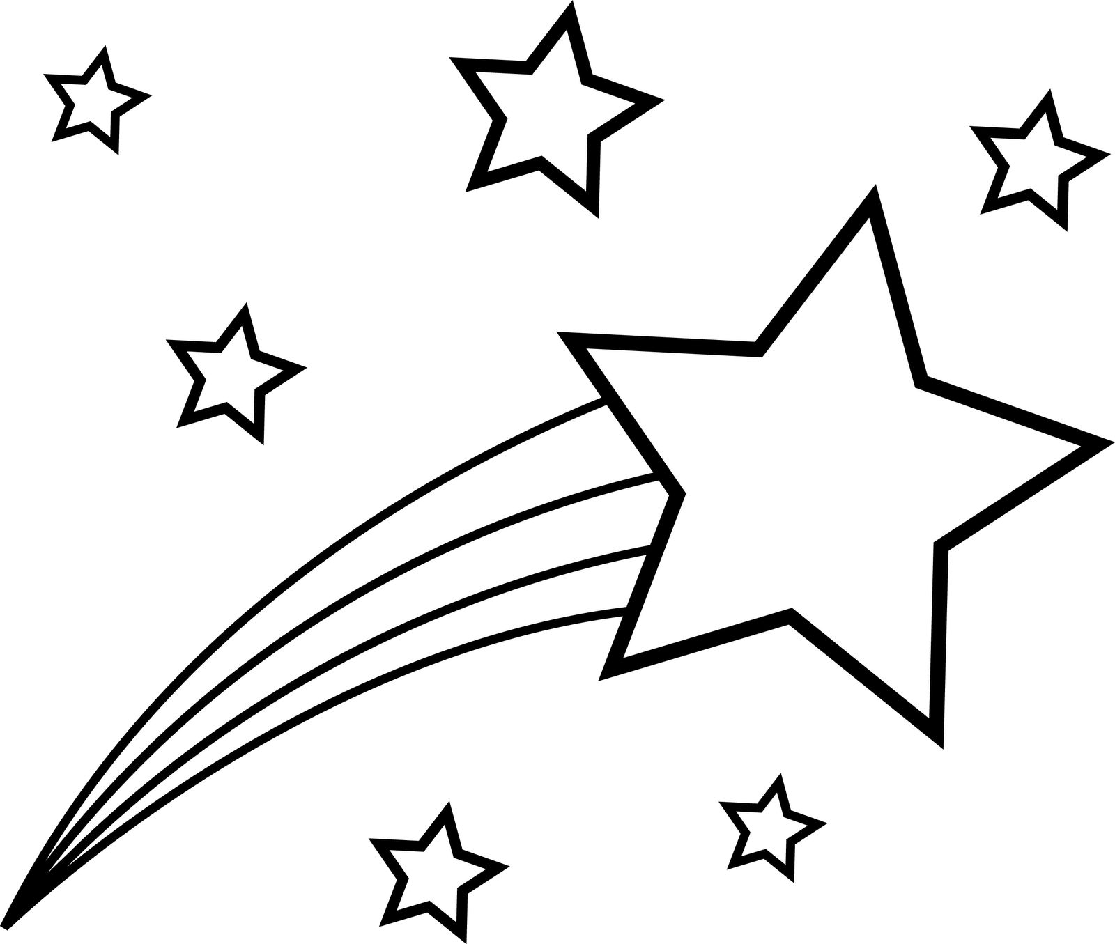 4 Images of Shooting Star Outline Printable