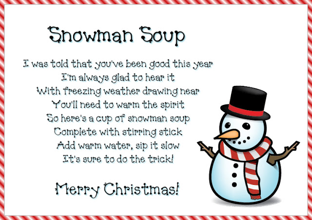 6 Images of Printable Snowman Soup In A Jar