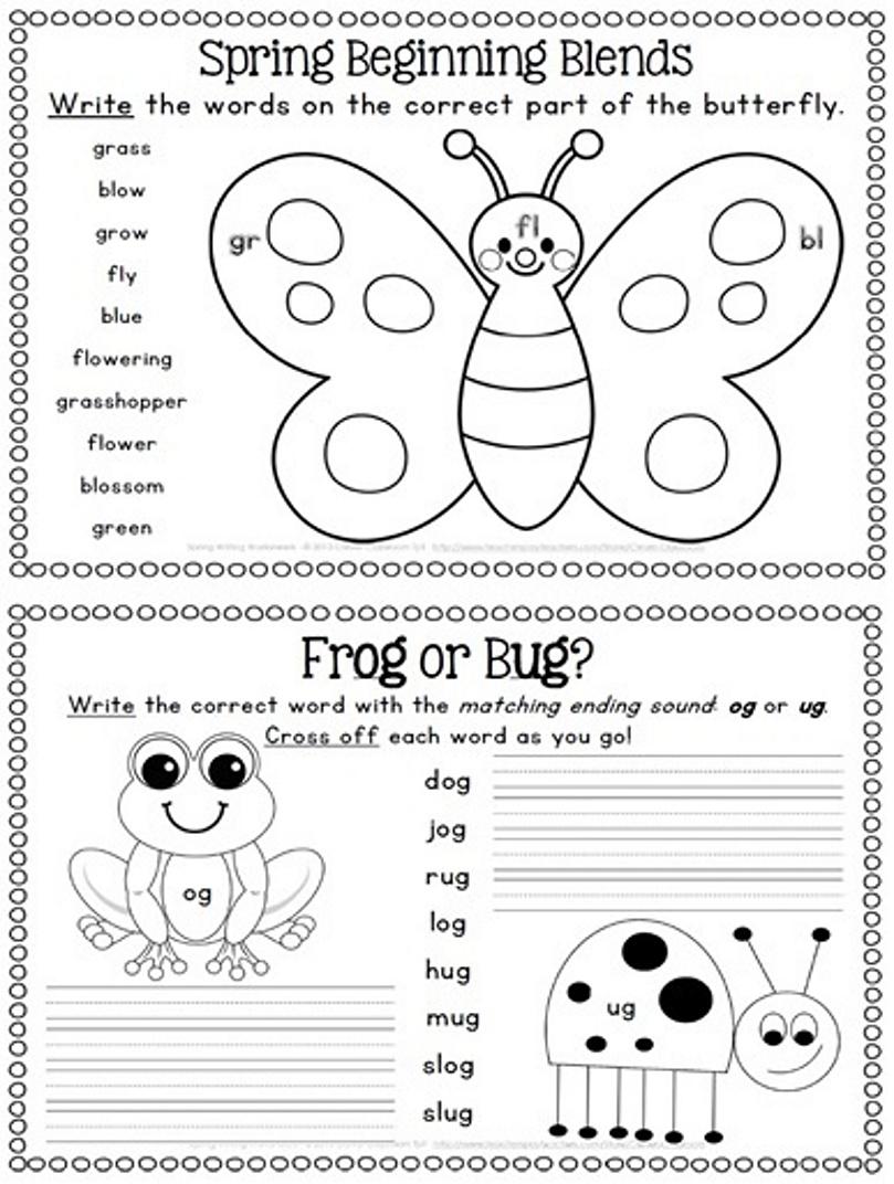 7 Best Images of Spring Printable Activity Worksheet ...
