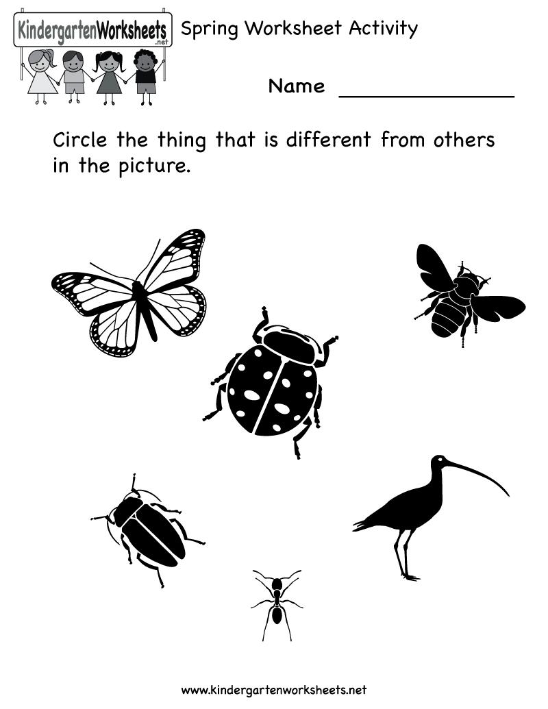 7 best images of spring printable activity worksheet