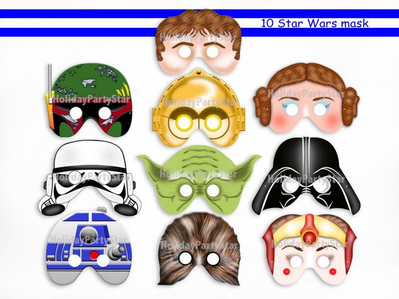 7 Images of C-3PO Star Wars Printable Masks